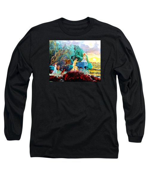 Long Sleeve T-Shirt featuring the painting Sunrise Sonata by Henryk Gorecki