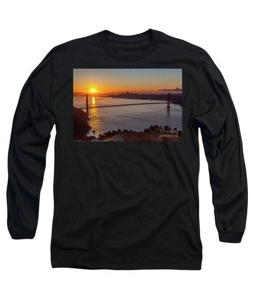 Sunrise Sunlight Hitting The Coastal Rock On The Shore Of The Go Long Sleeve T-Shirt