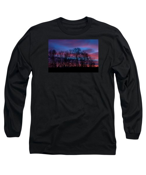 Sunrise Through Barren Trees Long Sleeve T-Shirt