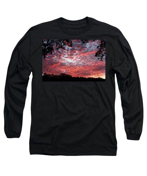Sunrise Through The Trees Long Sleeve T-Shirt by Sheila Brown