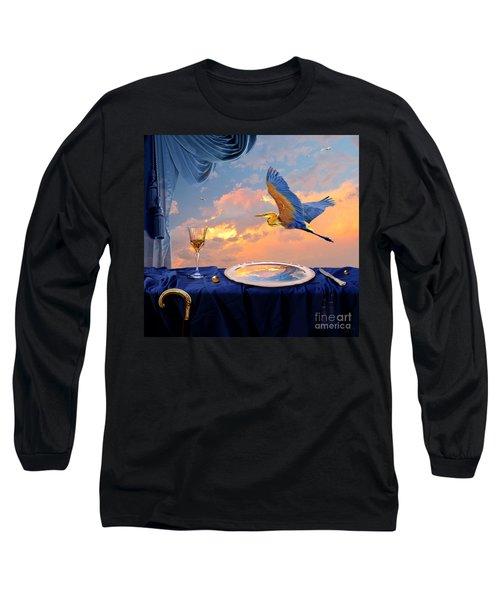 Long Sleeve T-Shirt featuring the digital art Sunset by Alexa Szlavics