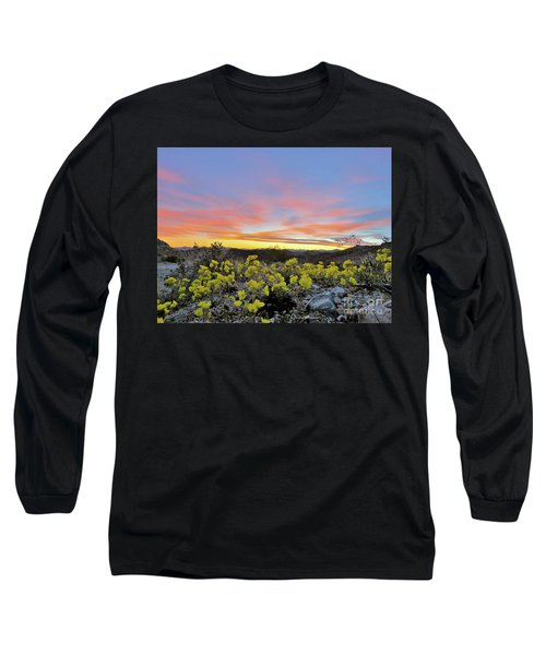 Sunset And Primrose Long Sleeve T-Shirt by Michele Penner