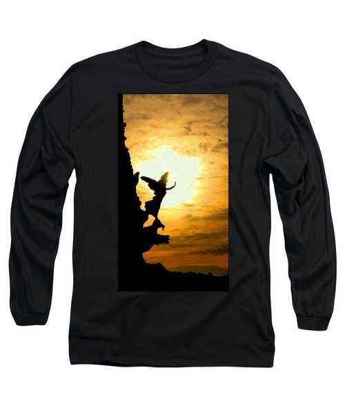 Sunset Angel Long Sleeve T-Shirt by Valentino Visentini