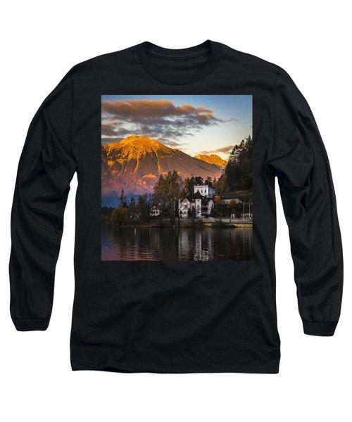 Sunset At Bled Long Sleeve T-Shirt