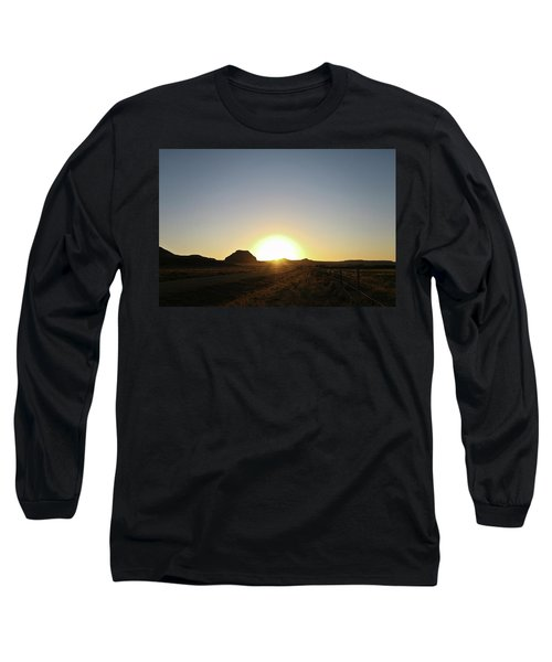 Sunset At Castle Butte Sk Long Sleeve T-Shirt