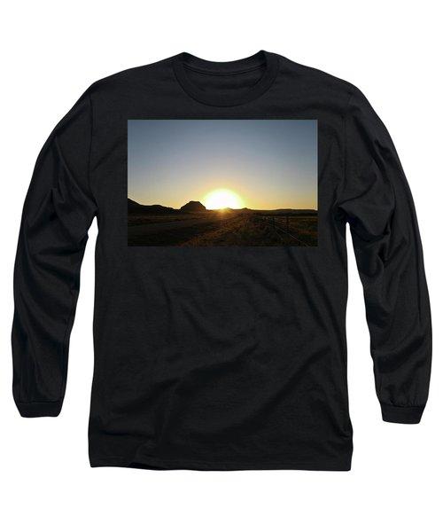 Sunset At Castle Butte Sk Long Sleeve T-Shirt