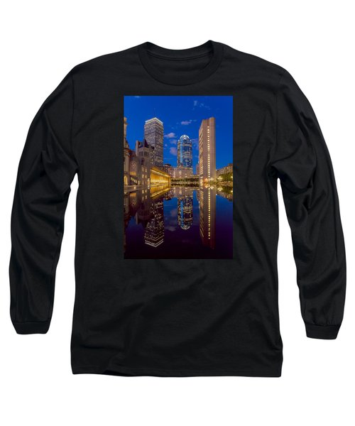 Sunset At Christian Plaza Long Sleeve T-Shirt
