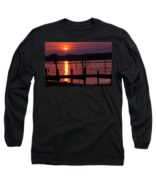 Sunset At Colonial Beach Long Sleeve T-Shirt
