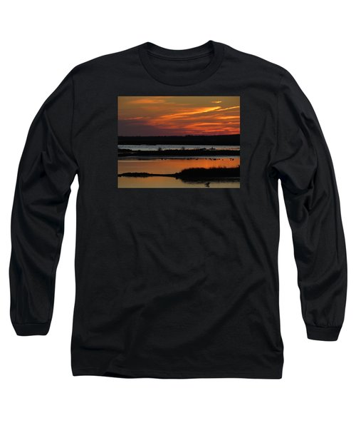 Sunset At Forsythe Reserve 2 Long Sleeve T-Shirt by Melinda Saminski