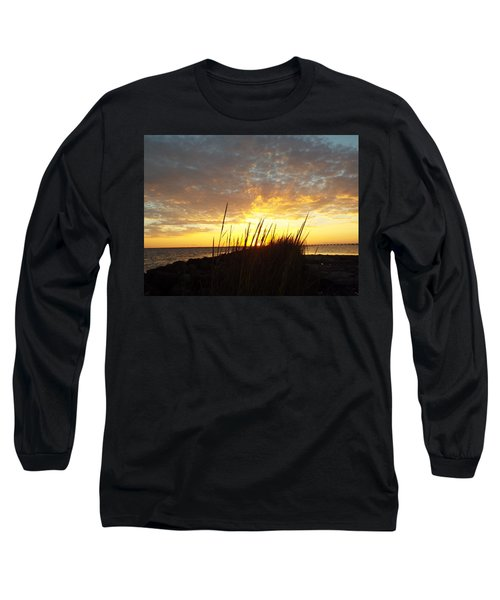 Sunset At Goose Island, Tx Long Sleeve T-Shirt
