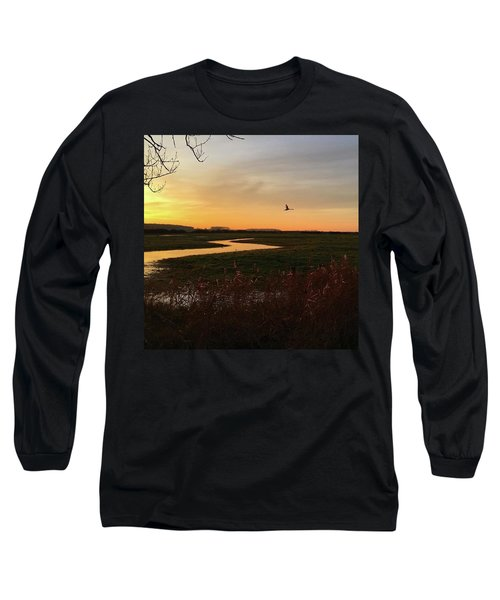 Sunset At Holkham Today  #landscape Long Sleeve T-Shirt