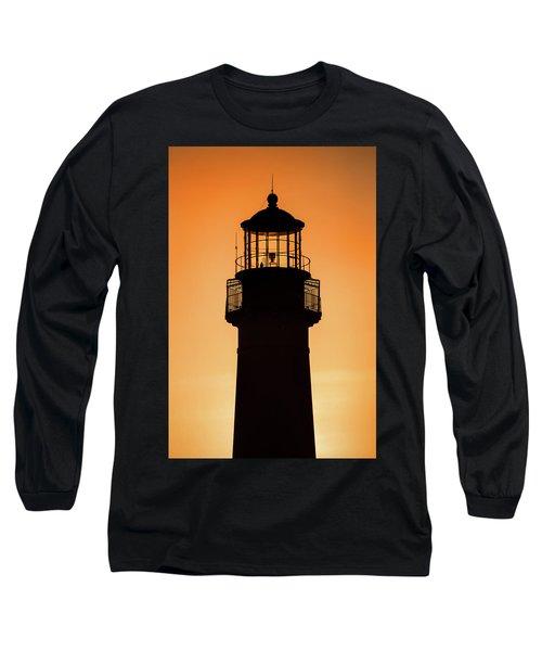 Sunset At Lighthouse Long Sleeve T-Shirt