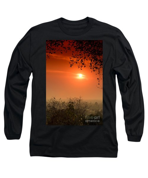 Long Sleeve T-Shirt featuring the photograph Sunset At Phnom Bakheng Of Angkor Wat by Yew Kwang