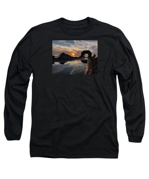 Long Sleeve T-Shirt featuring the photograph Sunset At The Beach by Alex King
