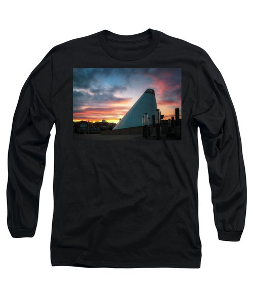 Sunset At The Museum Of Glass Long Sleeve T-Shirt