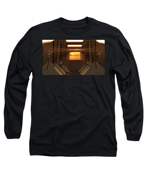 Sunset At The Temple Long Sleeve T-Shirt