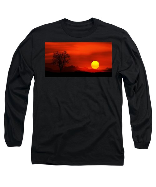 Sunset Long Sleeve T-Shirt by Bess Hamiti