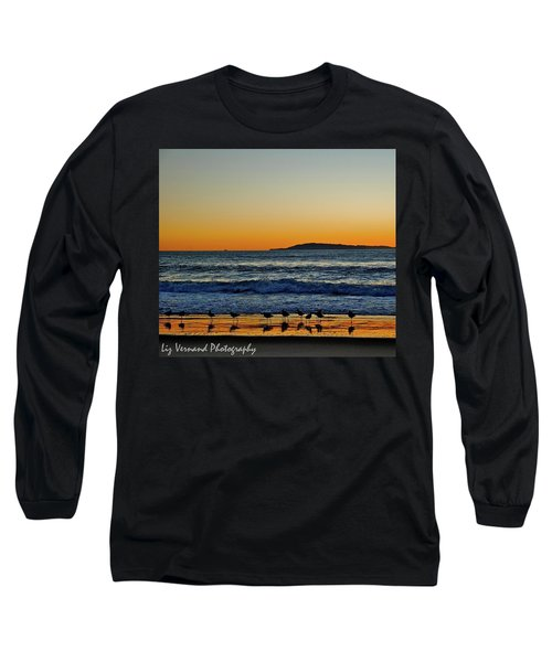 Sunset Bird Reflections Long Sleeve T-Shirt