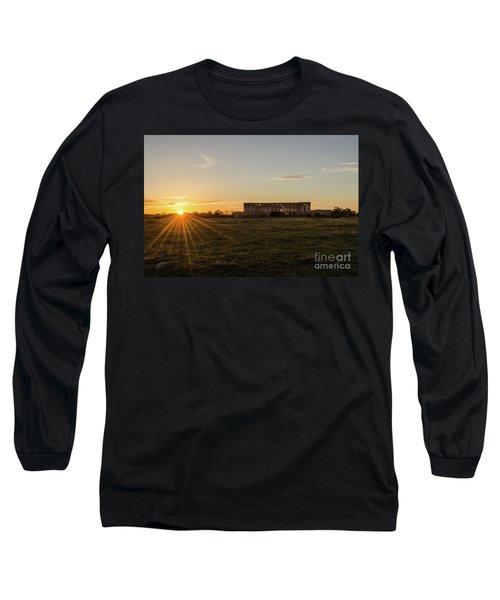 Sunset By Old Castle Ruin Long Sleeve T-Shirt by Kennerth and Birgitta Kullman
