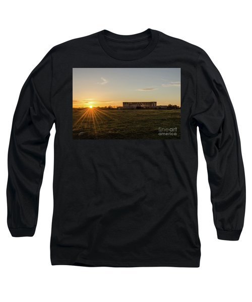 Sunset By Old Castle Ruin Long Sleeve T-Shirt