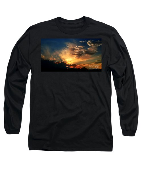 Sunset Of The End Of June Long Sleeve T-Shirt by Zedi