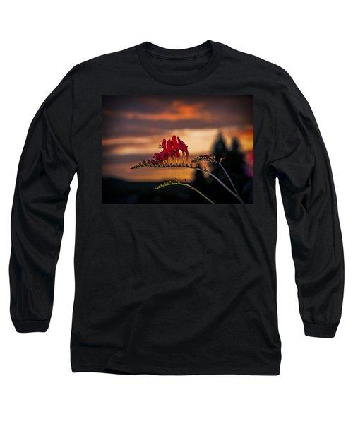 Sunset Crocosmia Long Sleeve T-Shirt