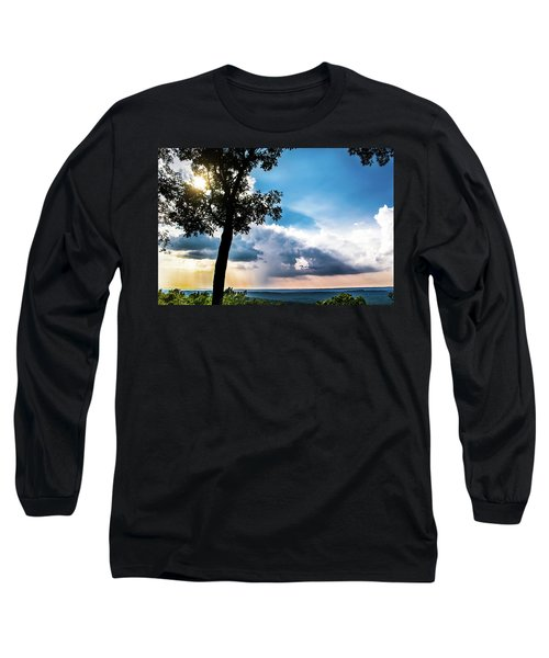 Long Sleeve T-Shirt featuring the photograph Sunset Explosion by Shelby Young