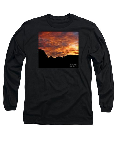 Sunset Fire Long Sleeve T-Shirt by Christy Ricafrente