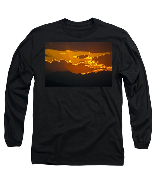 Long Sleeve T-Shirt featuring the photograph Sunset Fire by Colleen Coccia