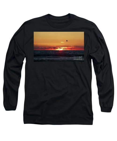 Sunset Flight Long Sleeve T-Shirt by Nicki McManus