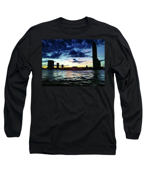 Sunset From The Boat On The Way To Long Sleeve T-Shirt