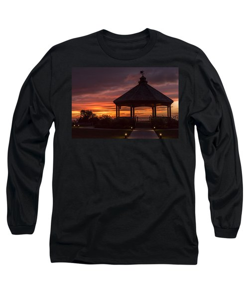 Sunset Gazebo Lavallette New Jersey Long Sleeve T-Shirt
