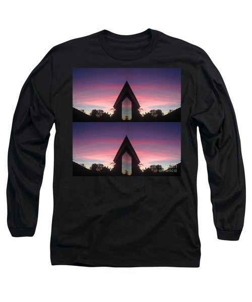 Long Sleeve T-Shirt featuring the photograph Sunset Hues And Views by Nora Boghossian