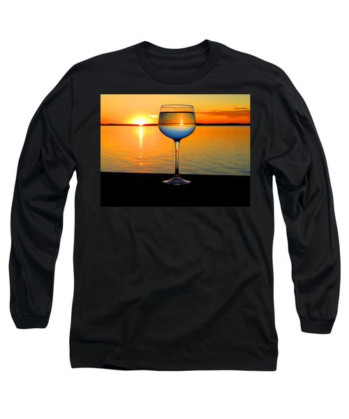 Sunset In A Glass Long Sleeve T-Shirt