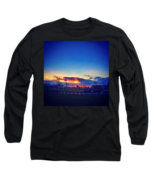 Sunset In College  #sunset #college Long Sleeve T-Shirt