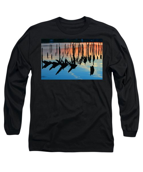 Sunset In Colonial Beach Virginia Long Sleeve T-Shirt