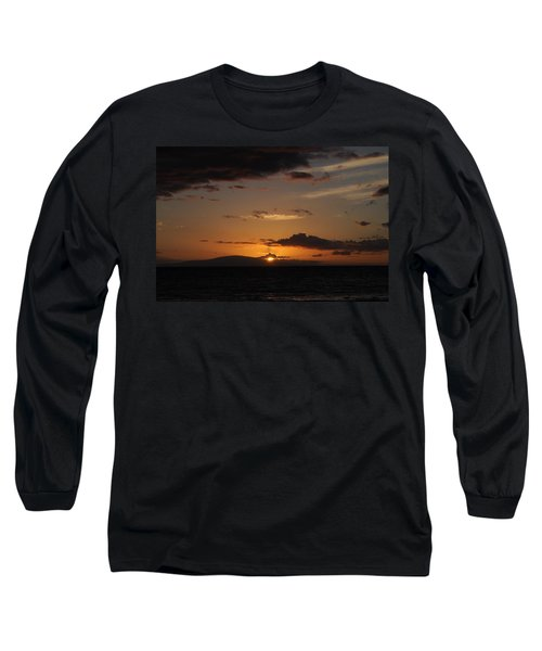 Long Sleeve T-Shirt featuring the photograph Sunset In Maui 2 by Michael Albright