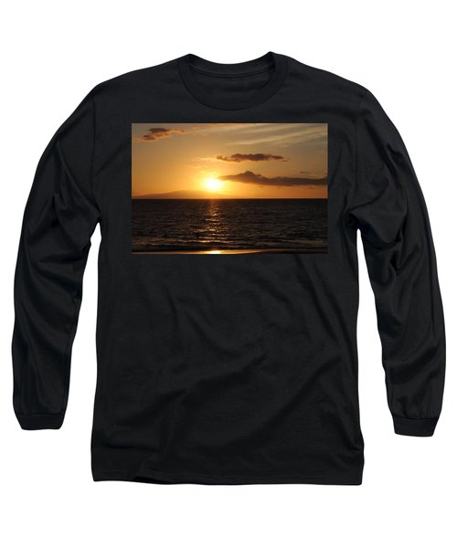 Long Sleeve T-Shirt featuring the photograph Sunset In Maui by Michael Albright