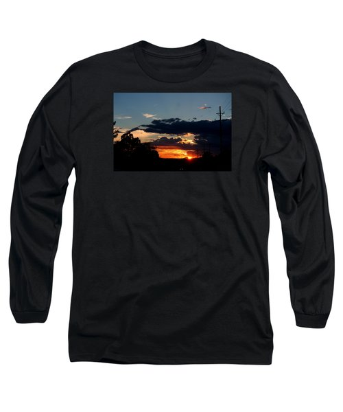 Long Sleeve T-Shirt featuring the photograph Sunset In Oil Santa Fe New Mexico by Diana Mary Sharpton