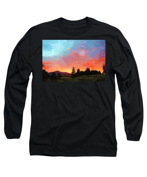 Sunset In Oregon Long Sleeve T-Shirt