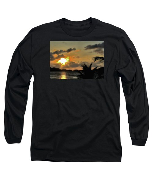 Long Sleeve T-Shirt featuring the photograph Sunset In Paradise by Jim Hill