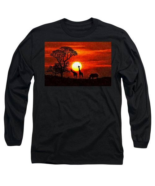 Sunset In Savannah Long Sleeve T-Shirt