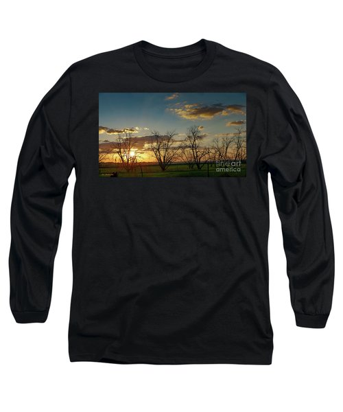 Sunset In The Fields Of Binyamina Long Sleeve T-Shirt