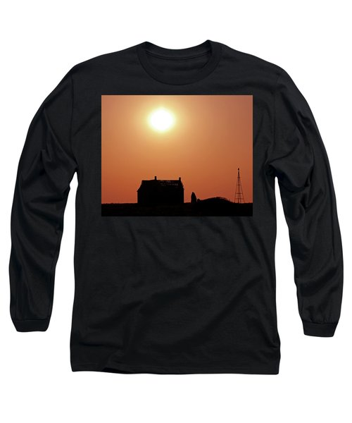 Long Sleeve T-Shirt featuring the photograph Sunset Lonely by Christopher McKenzie