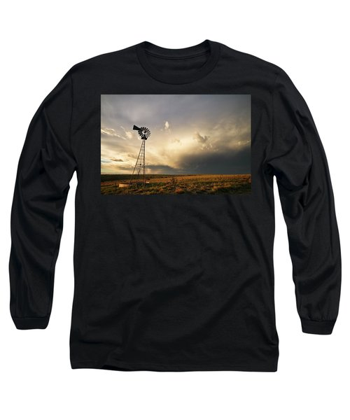 Sunset Near Santa Rosa New Mexico Long Sleeve T-Shirt