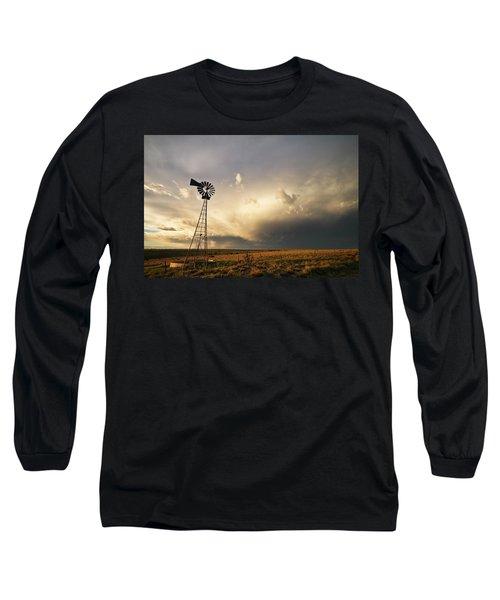 Sunset Near Santa Rosa New Mexico Long Sleeve T-Shirt