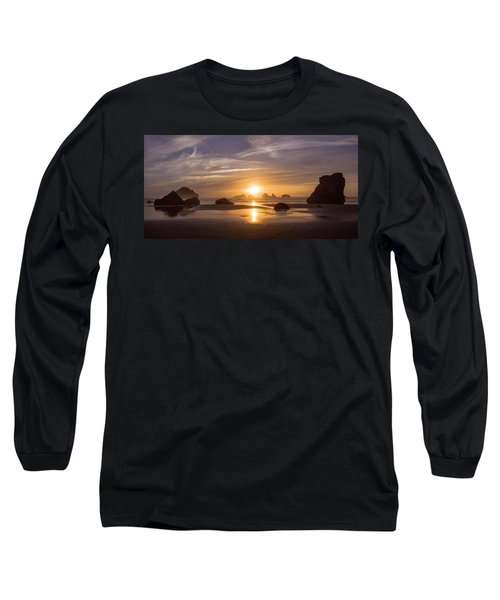 Sunset On Bandon Beach Long Sleeve T-Shirt