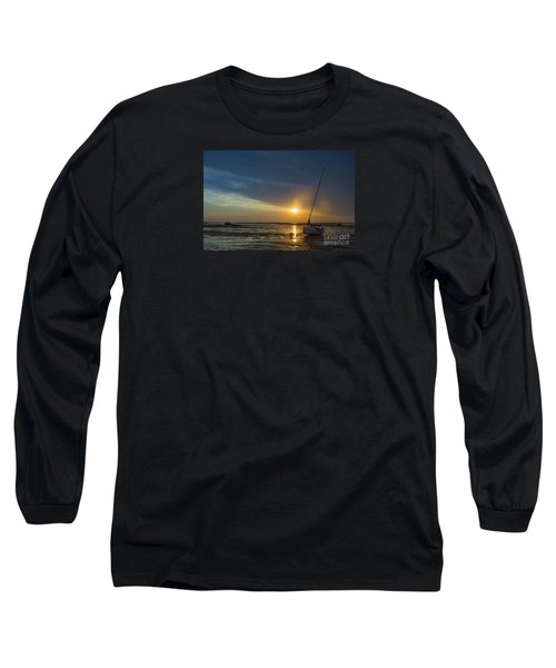 Sunset On Cape Cod Long Sleeve T-Shirt by Diane Diederich