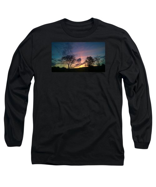 Sunset On Hunton Lane #12 Long Sleeve T-Shirt by Carlee Ojeda