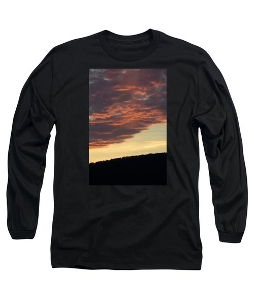 Sunset On Hunton Lane #8 Long Sleeve T-Shirt by Carlee Ojeda